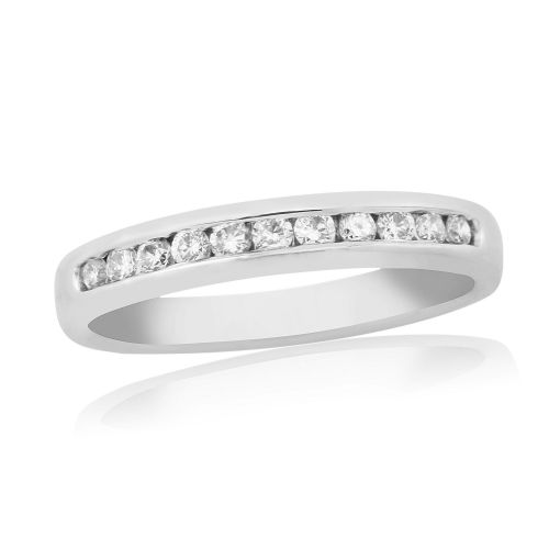 Stunning White Gold Diamond Eternity Ring Channel Set
